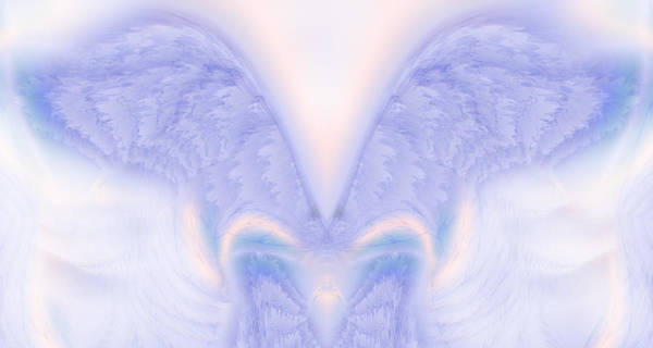 Angel Art Print featuring the painting Angel Wings by Christopher Gaston