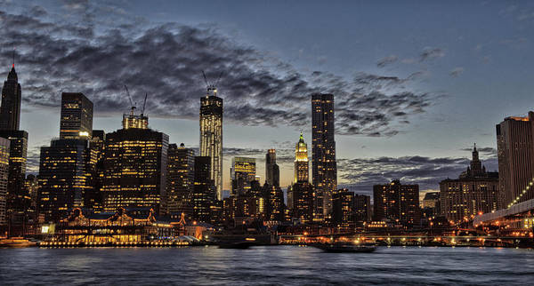 Nyc Art Print featuring the photograph City At Night by Roni Chastain