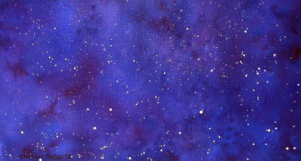 Stars Art Print featuring the painting Pleiades by Sharon Farber