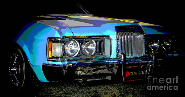 Low Rider Art Print featuring the photograph Psycho Cougar by Chuck Re