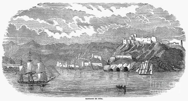 1853 Art Print featuring the photograph Santiago De Cuba, 1853 by Granger