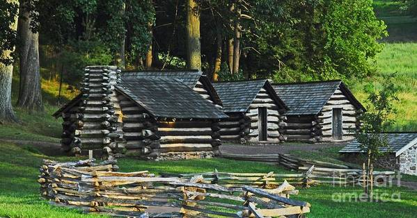 History Art Print featuring the photograph Soldiers Quarters At Valley Forge by Cindy Manero