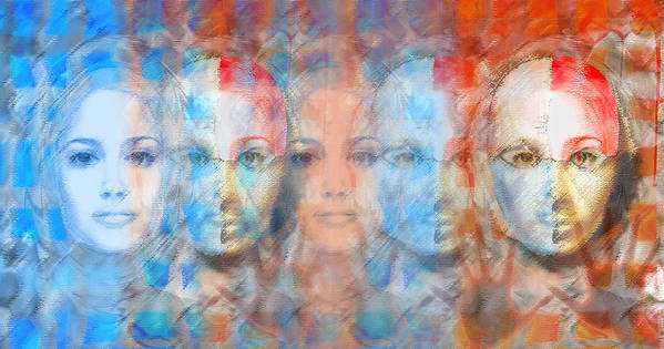 Face Print featuring the digital art The Passage Fragment by Andrea Ribeiro