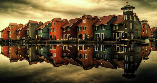 Groningen Art Print featuring the photograph Reflections Of Groningen by Skitterphoto