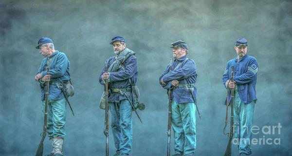 Union Civil War Soldiers Art Print featuring the digital art Union Civil War Soldiers by Randy Steele