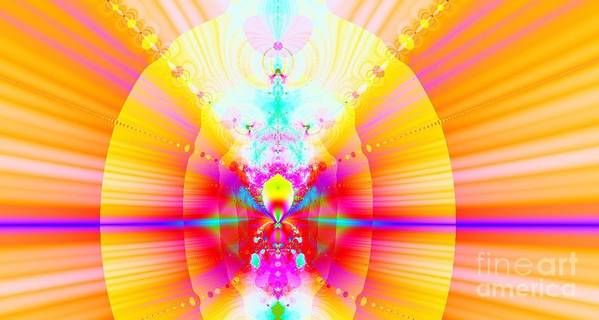 Digital Art Print featuring the digital art Angelic Hierarchy by Thomas Smith