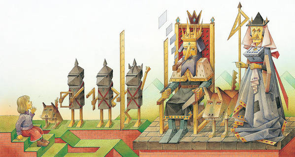 King Queen Art Print featuring the painting Lisas Journey 07 by Kestutis Kasparavicius