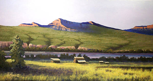 Landscape Art Print featuring the painting Old Homestead by Dalas Klein