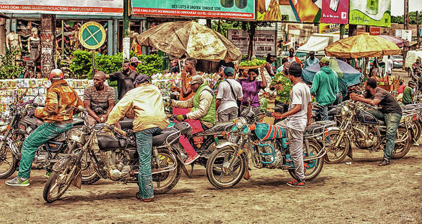 Streetphotography Art Print featuring the photograph Scenes @douala II by Steve Mvondo