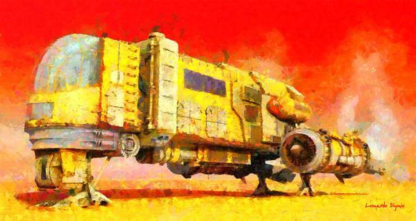 Star Wars Desert Transport Ship - Da Art Print