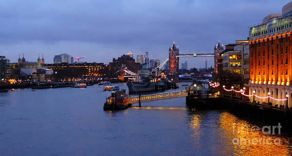 21stcentuymonk.com Art Print featuring the photograph Thames Riverside by Ben Kamble