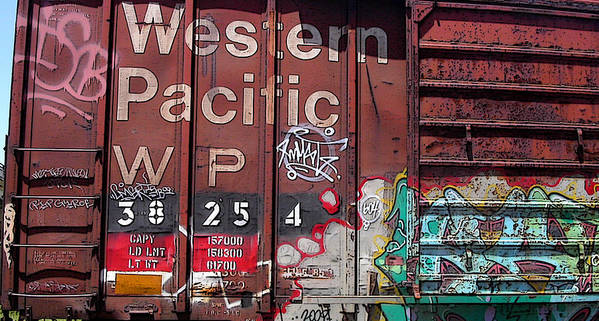 Locomotive Art Print featuring the photograph Western Pacific by Anne Cameron Cutri