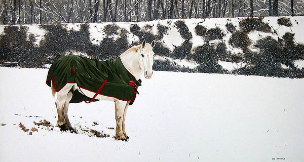 Horse Art Print featuring the painting Winter Coat by Ben Watson III