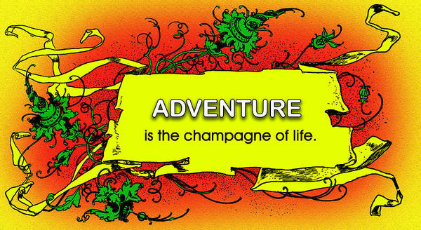 Quotation Art Print featuring the photograph Adventure by Mike Flynn