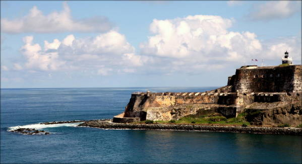 Puerto Rico Art Print featuring the photograph Beautiful El Morro by Karen Wiles