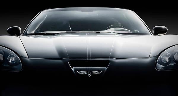 Black Art Print featuring the digital art Black Grand Sport Corvette by Douglas Pittman