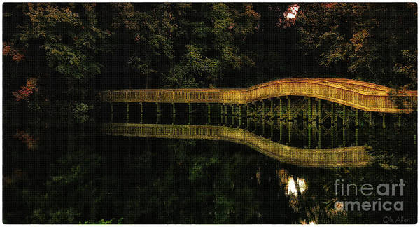 Wooden Bridge Art Print featuring the photograph Carry Me Back In Time by Olahs Photography