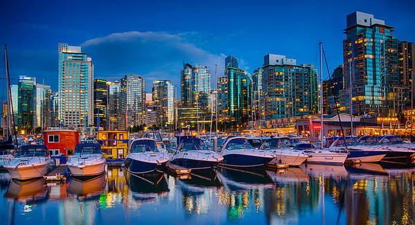 Vancouver Art Print featuring the photograph Coal Harbour by Ian Stotesbury