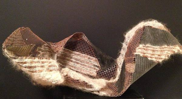 Copper Mesh Print featuring the sculpture Copper Mesh by Erika Chamberlin