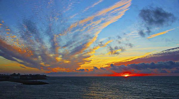 Landscape Art Print featuring the photograph French Sunset by Robert Seidman