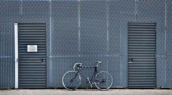 Bike Art Print featuring the photograph No Bikes Please by Linda Wride