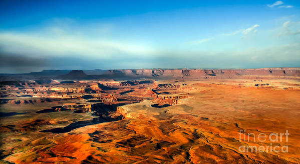 Canyonland Print featuring the photograph Painted Canyonland by Robert Bales