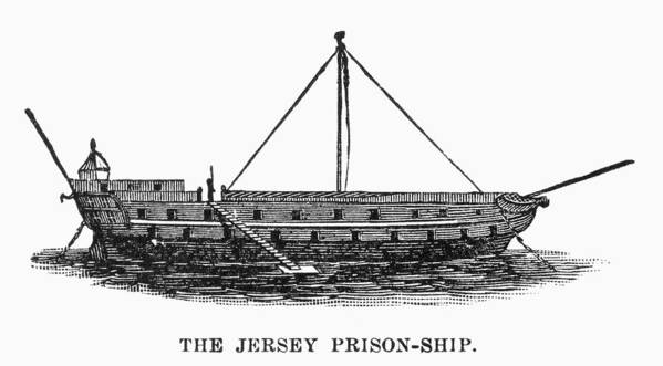 1780s Art Print featuring the photograph Prison Ship: Jersey by Granger