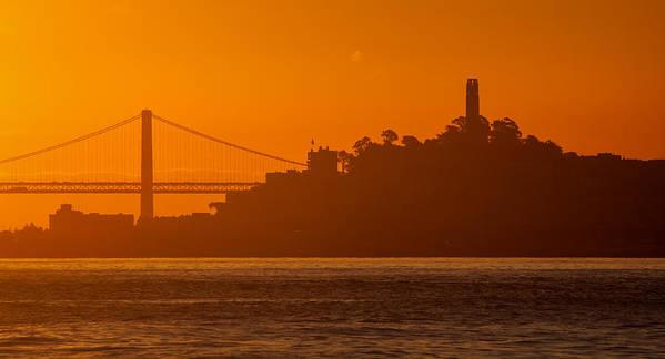 Bay Bridge Art Print featuring the photograph San Francisco Sunrise by Alexis Birkill