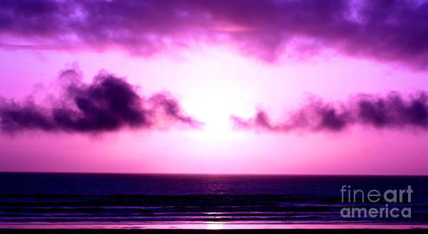 Sunset Art Print featuring the photograph Seaside Sunset by Nick Gustafson