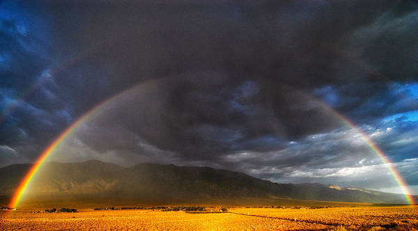 Rainbow Print featuring the photograph Somewhere Over The Rainbow by Cat Connor