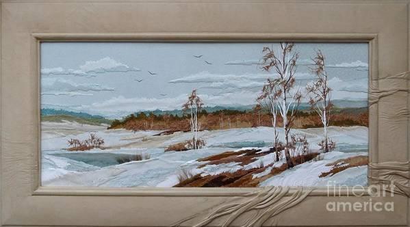 Landscape Art Print featuring the painting Spring Is Coming by Yakubouskaya Olga
