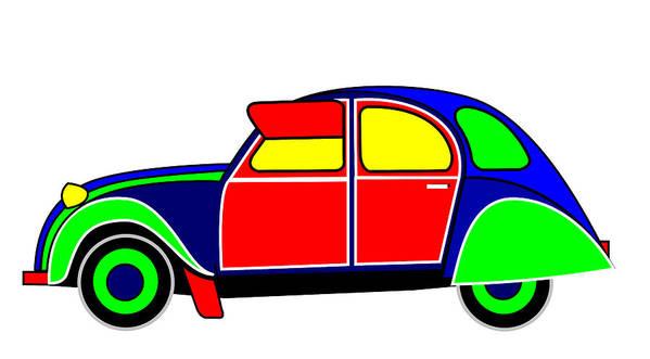 Car Art Print featuring the digital art My Dream Car by Asbjorn Lonvig