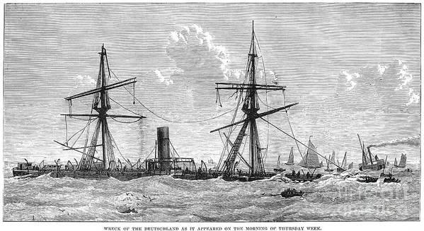 1875 Art Print featuring the photograph Shipwrecks, 1875 by Granger