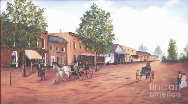 Andscape Art Print featuring the painting Laurens Street 1890 by Jerry Walker