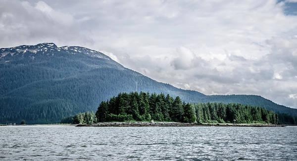 Places Art Print featuring the photograph Mountain Range Scenes In June Around Juneau Alaska by Alex Grichenko