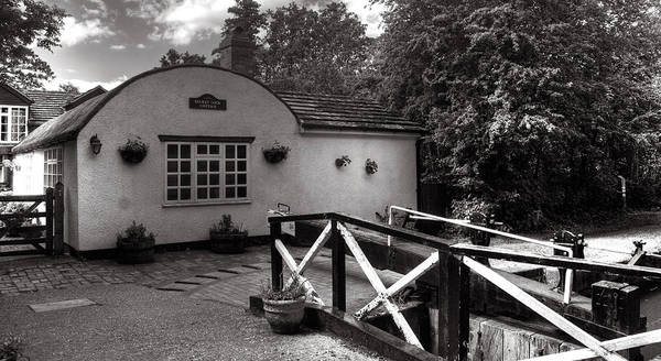 Canal Art Print featuring the photograph Canal Cottage by Dave Perks