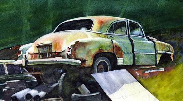Chev Art Print featuring the painting Chev At Rest by Ron Morrison