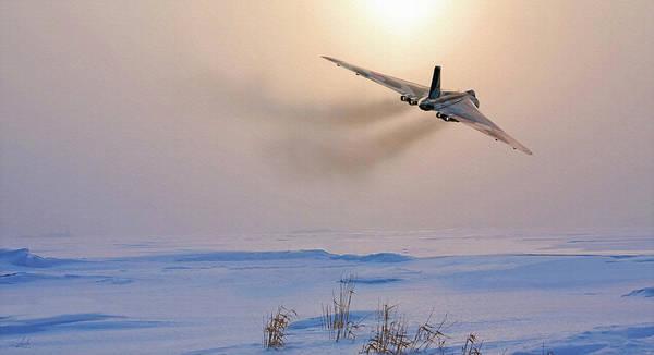 Avro Vulcan Art Print featuring the painting Cold War Warrior by John Fox