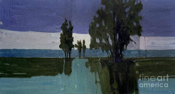 Nocturne Art Print featuring the painting Lights On The Horizon by Donald Maier