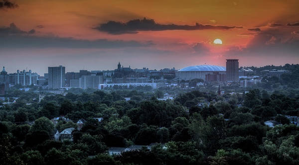 Syracuse Art Print featuring the photograph Syracuse Sunrise by Everet Regal