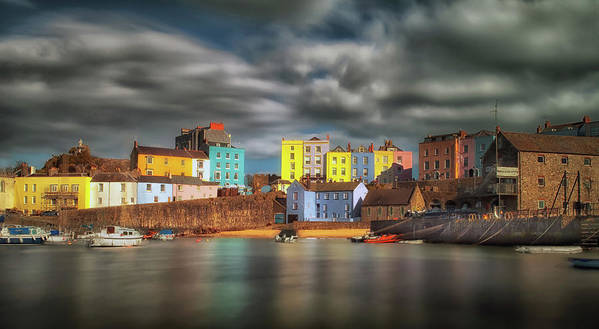 Tenby Art Print featuring the photograph Tenby Harbour Pembrokeshire by Leighton Collins