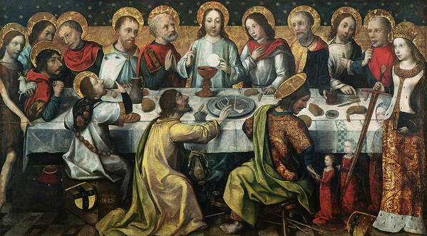 The Print featuring the painting The Last Supper by Godefroy