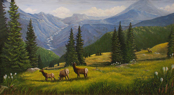 Landscape Art Print featuring the painting The Moyie Drop by Lucille Owen-Huston