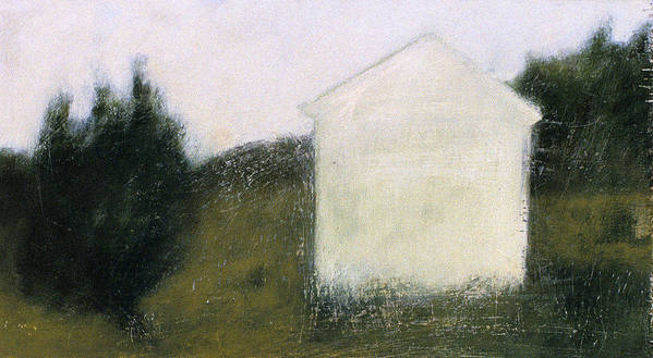 Landscape Print featuring the painting The Shed by Ruth Sharton