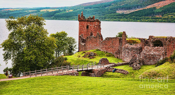 Landscape Art Print featuring the photograph Urquhart Castle Scotland by Chuck Kuhn