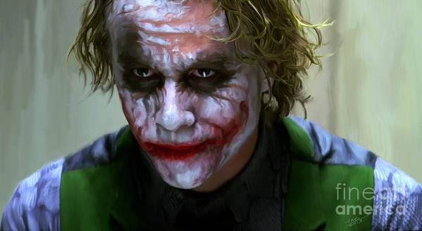 Heath Ledger Art Print featuring the painting Why So Serious by Paul Tagliamonte