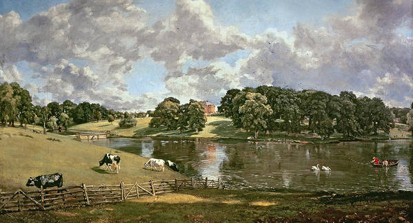 Wivenhoe Print featuring the painting Wivenhoe Park by John Constable