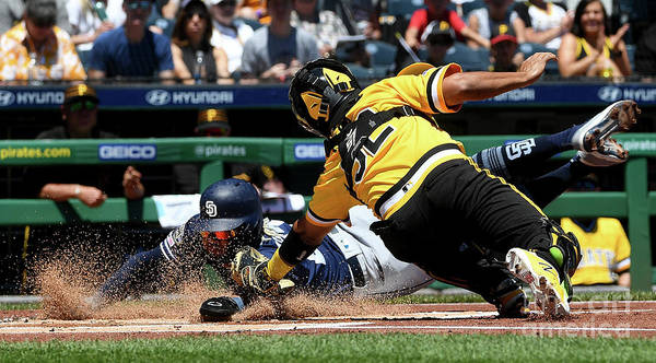 People Art Print featuring the photograph San Diego Padres V Pittsburgh Pirates 3 by Justin Berl