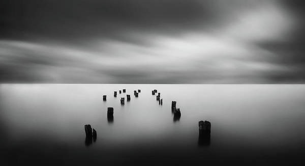 Landscape Art Print featuring the photograph The Remains Of A Pier by Catalin Alexandru