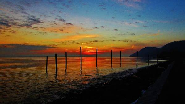 Hudson Valley Landscapes Art Print featuring the photograph Haverstraw Bay Sunrise by Thomas McGuire
